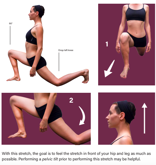 Left Kneeling Psoas Stretch